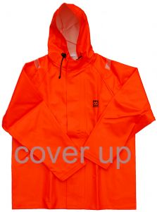 66ºNORTH EXTRA-HEAVY-DUTY ORANGE PVC HOODED JACKET
